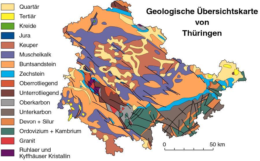 Geologische Karte Thüringen.Die Geologische Kartieranleitung Der Sgd Fachliche Grundlagen